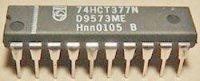 74HCT377 - 8x D-type flip-flop, DIL20