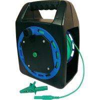 Měřicí kabel zástrčka 4 mm ⇔ zásuvka 4 mm Cliff CIH299430, 30 m, zelená