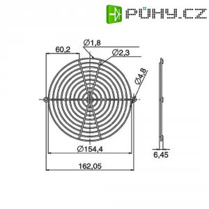 Ochranná mřížka ventilátoru Panasonic ASEN58001, 150 mm x 172 mm