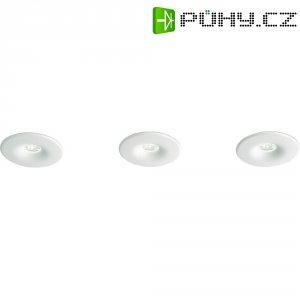 Vestavné LED osvětlení Philips Merope, sada 3 ks, 3x 2,5 W, bílá/hliník (598433116)