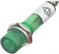 Kontrolka LED 12V , zelená do otvoru 7mm
