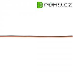 Plochý kabel k servu 5 m, Ø 2x 0,14, černá/červená