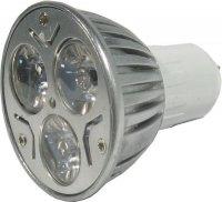 Žárovka LED MR16-3x1W, teplá bílá, 12V/3W