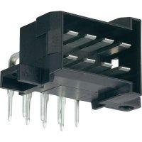 Konektor do DPS 4pól. TE Connectivity 828801-1, zástrčka úhlová, černá