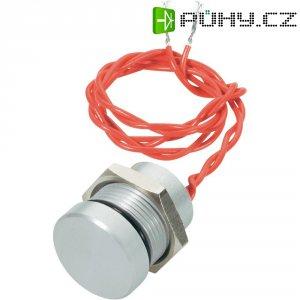 Piezo tlačítko APEM, 24 V DC/AC, 0,2 A, IP 69K, PBAT5CF6254, stříbrné