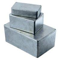 Tlakem lité hliníkové pouzdro Hammond Electronics, (d x š x v) 50 x 50 x 31 mm, hliníková (1590LB)