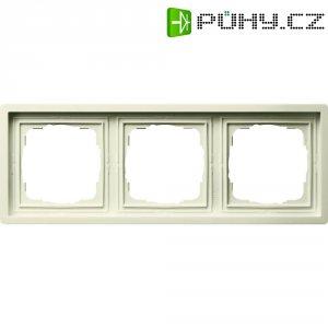 Rámeček plochého spínače 3dílný Gira, standard 55, krémově bílá (0213111)