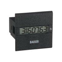 Počítadlo provozních hodin Bauser, 3801.2.1.0.1.2 DC, 12- 24 VDC, 45 x 45 mm, IP65