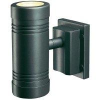 Venkovní nástěnné svítidlo oboustranné SLV Fasseco GU10, 2x 50 W, antracit
