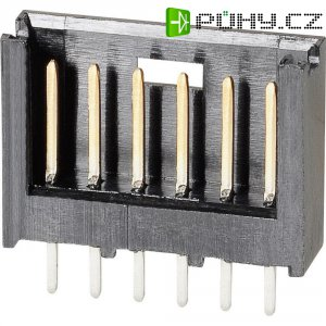 Kolíková lišta MOD II TE Connectivity 280375-2, přímá, 2,54 mm, černá