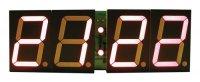Stavebnice PT011B CMOS digitální hodiny s 45mm červenými LED displeji