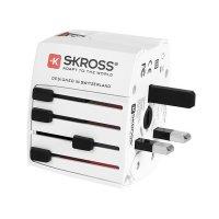 SKROSS cestovní adaptér MUV USB, 2.5A max., vč. USB nabíjení 2x výstup 2100mA, univerzální pr
