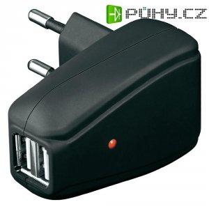 USB nabíječka Goobay Tra, 2x USB, 10 W, černá