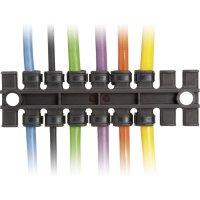 Lišta pro odlehčení tahu Icotek ZL 39 (32222), 38,5 mm, černá