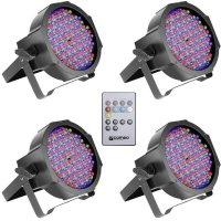 LED reflektor Cameo Flat, 15 W, barevná, 4 ks