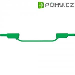 Měřicí silikonový kabel banánek 4 mm ⇔ banánek 4 mm MultiContact XVS-4075, 0,25 m, zelená