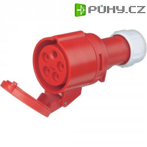 CEE zásuvka na kabel PCE, 32 A, IP44, červená