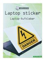 Samolepící dekorace na notebook Danger