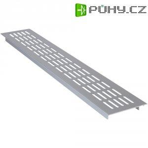 Hliníková mřížka Wallair N35843, 480 x 80 x 15 mm, stříbrná