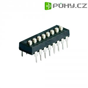 DIP přepínač TE Connectivity ADE0404, 1825057-3, 4pólový RM2,54