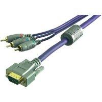 Kabel adaptéru Sound & Image 3x cinch konektor (RGB) na VGA konektor