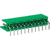 Lišta 12pól. TE Connectivity 280620-2, zástrčka zahnutá, 3,96 mm, zelená