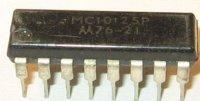 MC10125P - převodník MECL/TTL, DIP16