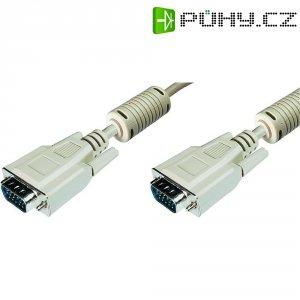 Kabel VGA vidlice ⇔ vidlice, 1,8 m, šedá, Digitus