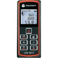 Laserový měřič vzdálenosti Toolcraft LDM 50 P, 50 m