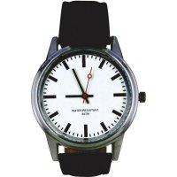 Ručičkové náramkové DCF hodinky, kožený pásek