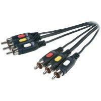 Kabel 3x cinch - 3x cinch SPEAKA, 5 m, černá