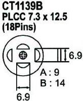 Nástavec na vyfoukávačku PLCC 18pin 6,9x6,9mm