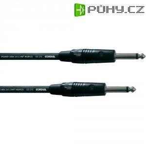 Cordial® CLS 215, 2x 1,5 mm² černá Cordial CPL 3 PP, [1x jack zástrčka 6,3 mm - 1x jack zástrčka 6,3 mm], 3 m, černá