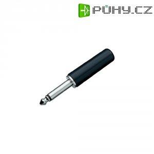 Jack konektor 6,35 mm BKL Electronic 1107001, zástrčka rovná, 2pól./mono, černá
