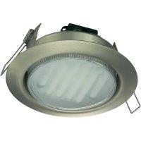 Vestavné úsporné osvětlení GX53, 13 W, matná/nikl