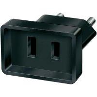 Cestovní adaptér Brennenstuhl, 1508500, zásuvka (USA) ⇔ zástrčka CZ, černá