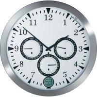 Analogové nástěnné DCF hodiny Renkforce 12116SB-D, Ø 40 cm, hliník
