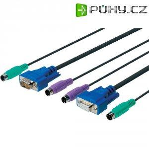 KVM kabel Digitus pro KVM přepínače DC-IC818-MC, 3 m, černá