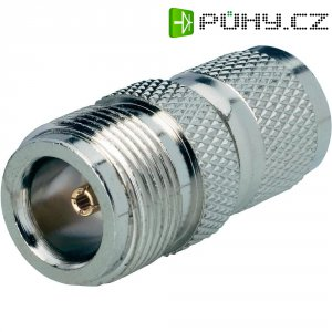 Adaptér TNC Reverse zástrčka / N zásuvka BKL Electronic 419416, 50 Ω, Delrin, rovný