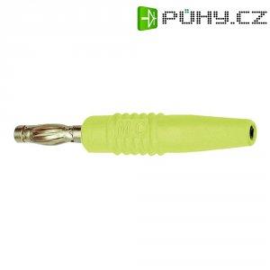 Lamelová zástrčka Ø pin: 4 mm Stäubli SLS425-L, zástrčka, rovná, žlutá, 1 ks