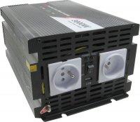 Měnič 24V/230V 3000W,modifikovaná sinusovka, JYINS