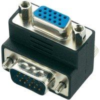Úhlový adaptér VGA zástrčka/zásuvka 90°