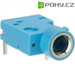 Jack konektor 3,5 mm stereo BKL Electronic 1109052, zásuvka vestavná horizontální, 3pól., modrá