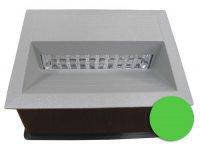 Svítidlo LED vestavné J05A 12V 138x185mm zelené