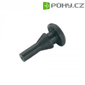 Tlumicí přístrojová nožička se západkou PB Fastener 1283-01, (Ø x v) 8 mm x 14.7 mm, černá, 1 ks