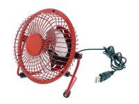 Ventilátor USB červený HQ FN04RE