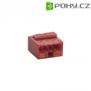 Mikro svorka Wago, 243-804, 0,6 - 0,8 mm², 4pólová, červená
