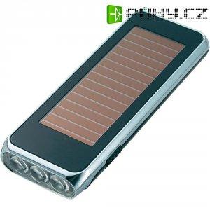 Solární kapesní LED svítilna, 3,6 V, černá/stříbrná