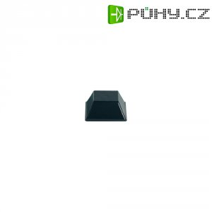 Samolepicí přístrojové nožičky, obdélníkové, polyuretan, 12,7 mm x 5,8 mm, 10 ks, černá