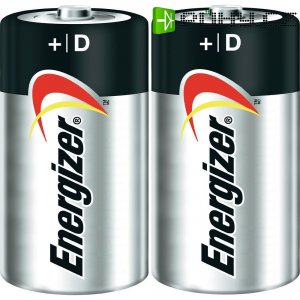Alkalická baterie Energizer Ultra+, typ D, sada 2 ks